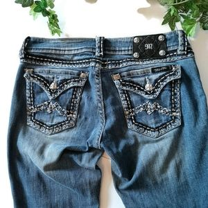 MISS ME skinny blinged out denim jeand W 30 L 33